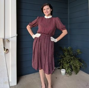 Vintage 80s Does 30s Dress